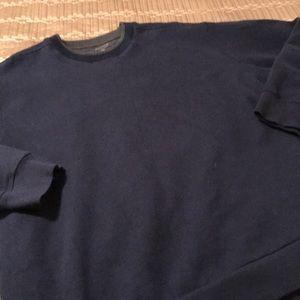 Arrow sweatshirt, navy with gray collar, XXL